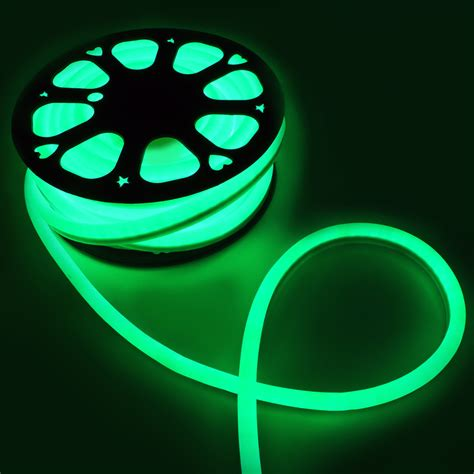 flexible 50 neon green led rope light indoor outdoor