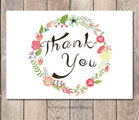 printable engagement thank you cards instant download floral thank you card engagement party