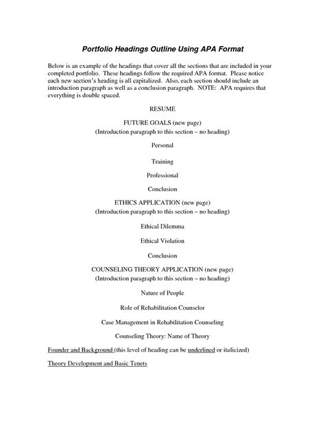 apa 6th edition sle outline college essays college application essays outline for a