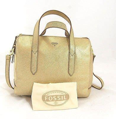 Fossil Sydney Crossbody Gold nwt fossil s sydney gold leather satchel purse