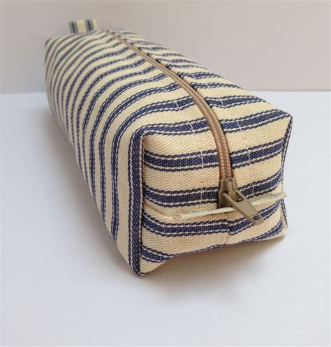 Handmade Pencil Cases - handmade cotton linen fabric pencil makeup bag storage