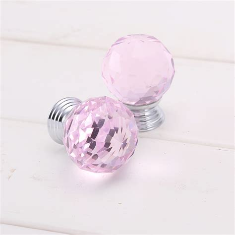 Pink Drawer Knobs 8x pink cut door knobs cupboard drawer cabinet