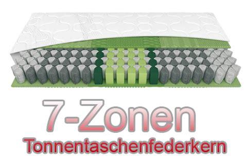 Unterschied Zwischen Taschenfederkern Und Tonnentaschenfederkern by Gesunder Schlaf Mit Einer 7 Zonen Taschenfederkern