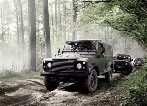 navy land rover defender military rapid response vehicles