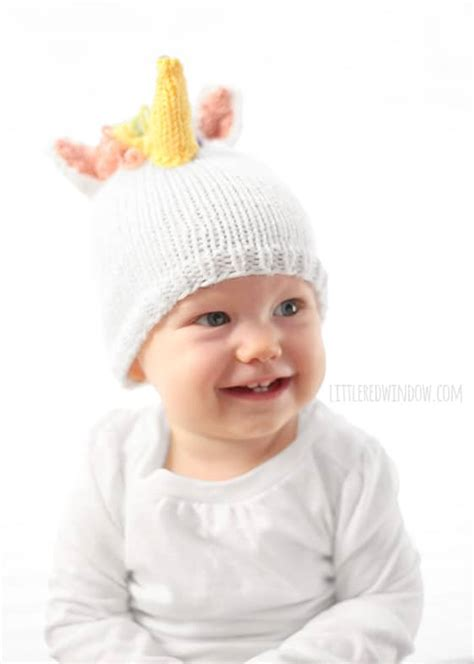 knitting pattern for unicorn hat magical unicorn hat knitting pattern little red window