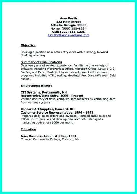 career objective for data entry operator 2695 best images about resume sle template and format