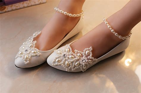 Flat Wedding Pumps by Wedding Shoes Lace Bridal Shoes Lace Bridal Flats Wedding