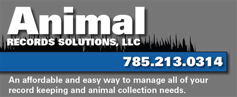 Records Solutions Services Animal Records Solutions