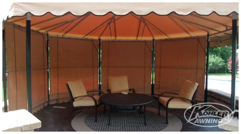 Free Standing Patio Awnings by Free Standing Fabric Awnings Kohler Awning