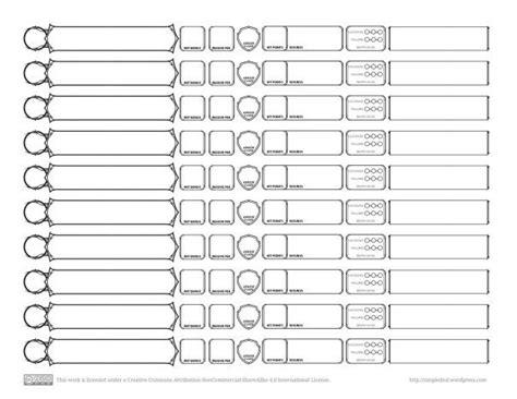 dnd templates d d 5e tracking sheet