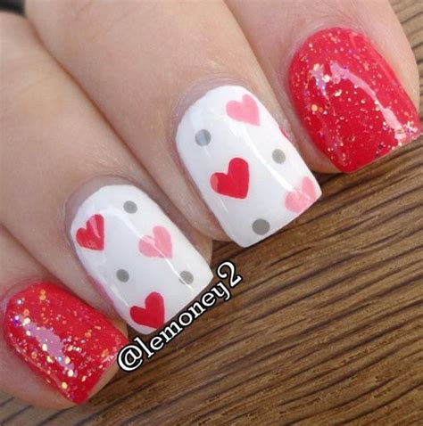 nails for valentines day simply and sweet nail arts for valentines day