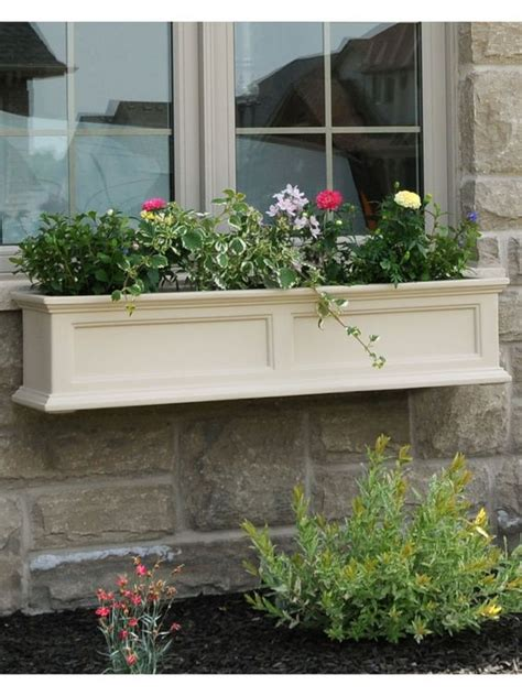 self watering window box window box fairfield self watering window flower boxes