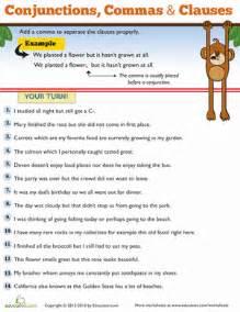 commas for kids worksheet education com