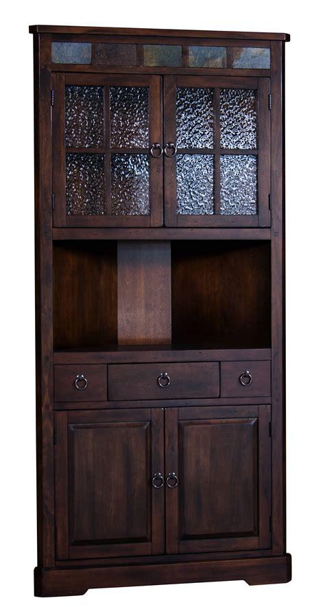 dark wood corner china cabinet sunny designs santa fe dark chocolate corner china cabinet