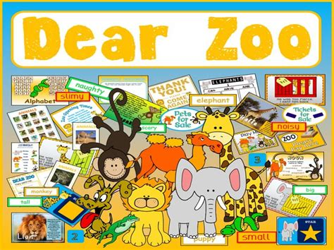 the zoo story themes pdf dear zoo story teaching resources and zoo role play eyfs