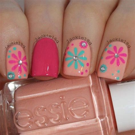 nail art and colors for march 2015 15 spring flower nail art designs ideas trends