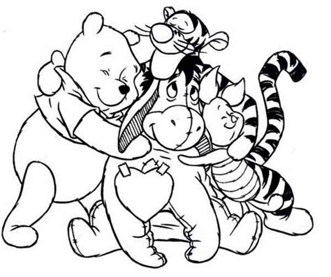coloring pages winnie the pooh and friends baby winnie the pooh and friends coloring pages az