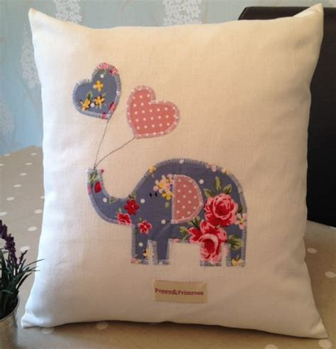 Cushion Design Ideas by Made Children S Cushion Pillow Cover With Elephant Balloons Applique In Blue Vintage
