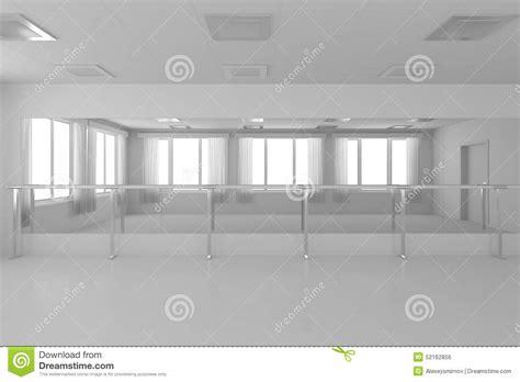 Credit Formation Dirigeant Plafond Salle De Danse Vide Blanche De Formation Avec Les Murs Plats Plancher Blanc Et Illustration