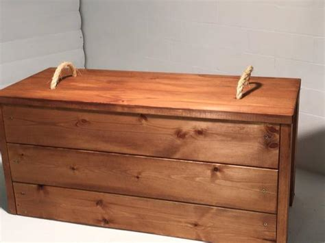 hand  solid pine toy chest ottoman blanket box wooden