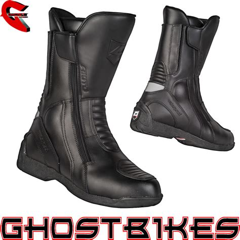 motorbike boots akito intra leather waterproof motorbike motorcycle boots