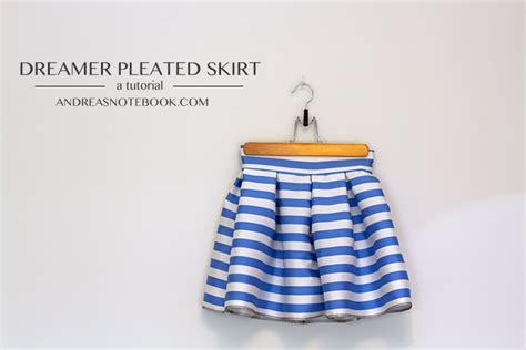 dreamer skirt free pleated skirt tutorial