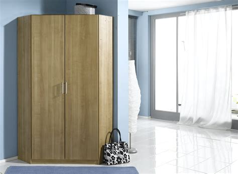2 Door Corner Wardrobe by Genoa 2 Door Corner Wardrobe Cupboard Bedroom Furniture
