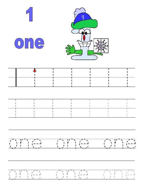 Tracing Numbers 1 10 Worksheets Kindergarten by Number 1 Tracing Worksheets For Preschool Kindergarten