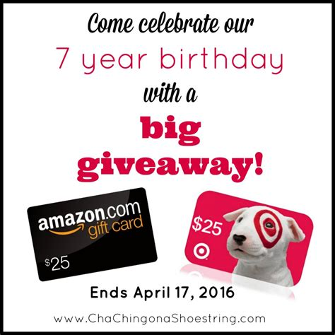7th Birthday Giveaways - celebrating our 7th birthday with a new look and a big giveaway closed cha ching