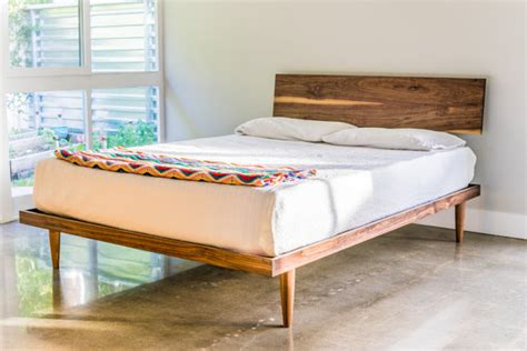 western beds the western bed mid century modern style platform bed