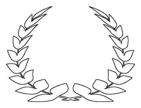 laurel leaf crown pattern use the printable outline for