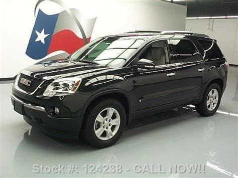 2009 gmc acadia slt awd navi leather dual moonroof canadian mississauga ontario used car for sale sell used 2009 gmc acadia slt leather dual dvd rear cam hud 72k texas direct auto in stafford