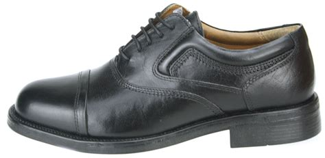 capped oxford shoe oaktrak stonebridge leather mens black lace up oxford cap