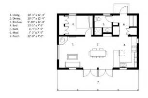Camp Humphreys Housing Floor Plans by Cabin Style House Plan 1 Beds 1 Baths 704 Sq Ft Plan 497 14
