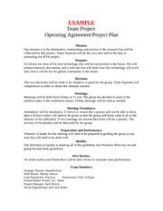 team operating agreement template team operating agreement template team operating