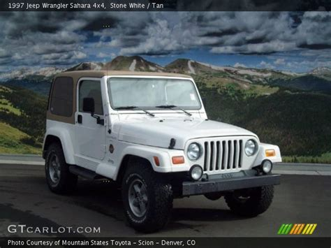 white jeep sahara tan interior stone white 1997 jeep wrangler sahara 4x4 tan interior