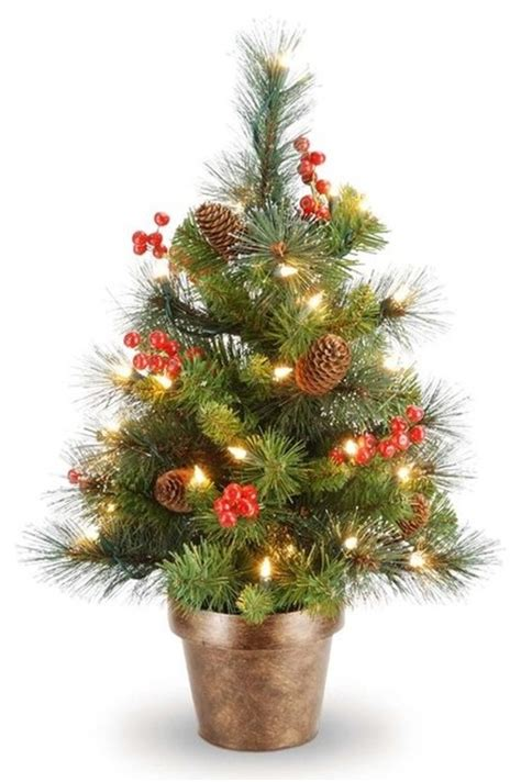 crestwood small artificial christmas tree traditional christmas trees by brookstone
