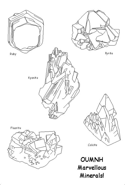 free coloring pages of minerals rocks