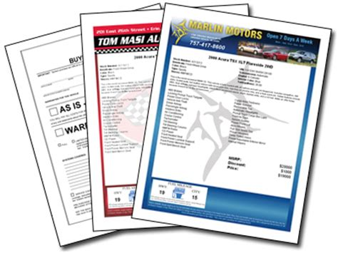 window stickers for used cars custom labels and ftc