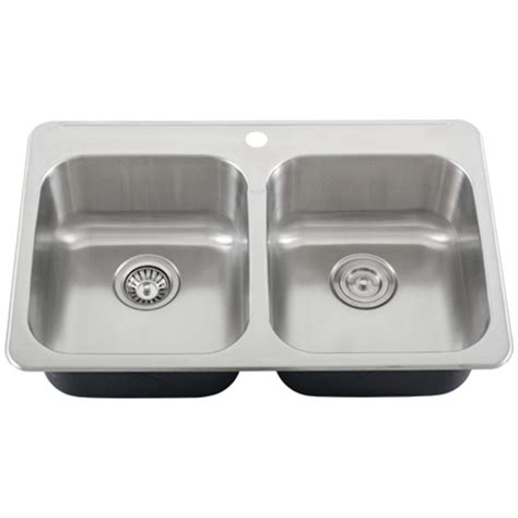 Kitchen Sinks Overmount Overmount Kitchen Sinks Stainless Steel Ticor S995 Overmount 18 Stainless Steel Kitchen Sink