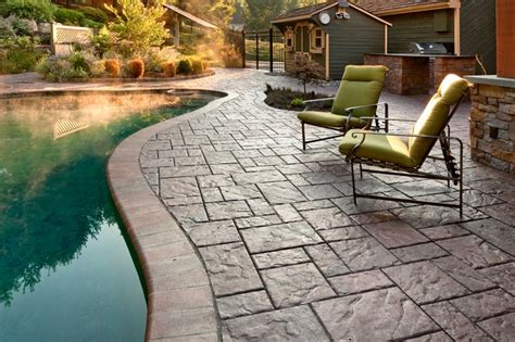 Travertine Bathroom Designs techo bloc blu 60 paver pool patio the color is autumn