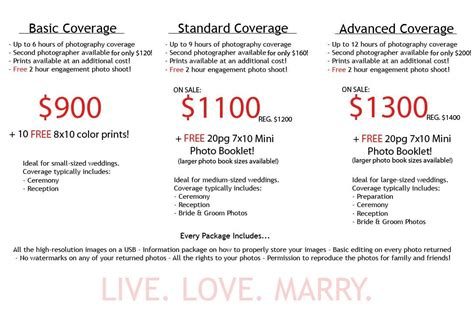 Wedding Photography Prices Packages by New Wedding Photography Packages Sles Wedding