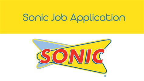 sonic application careers application world