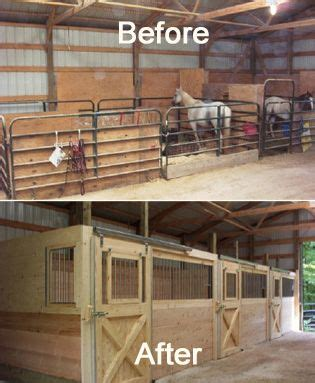 before & after barn stalls | barn + pasture | pinterest