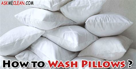 How To Wash Pillows At Home by How To Wash Pillows