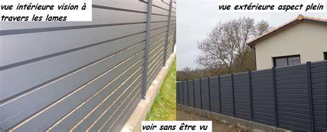 Plaque Separation Pour Jardin by Brise Vue Aluminium Au Prix D Une Cloture Pvc Ou Cloture