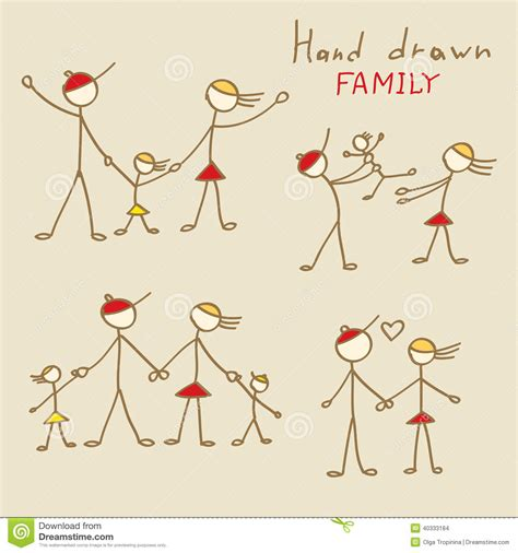 doodle family family doodles stock vector image 40333184