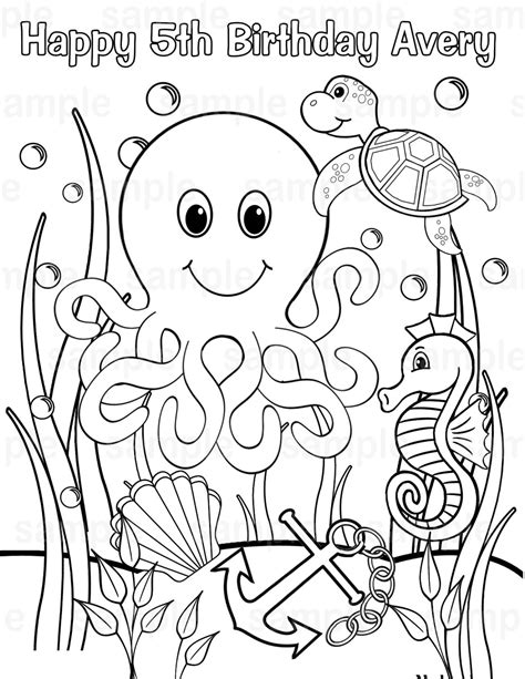coloring page of under the sea under the sea coloring pages to download and print for free