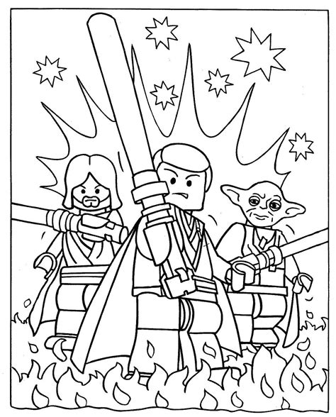 lego star wars coloring pages luke obi wan and luke skywalker with yoda coloring pages star