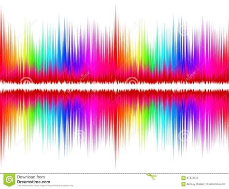 color and sound color sound wave stock vector image 67472312